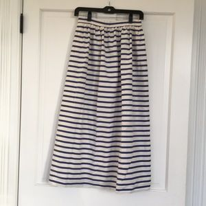 Striped J. Crew Maxi Skirt Size 2